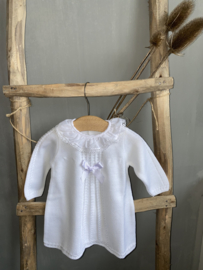 Mooi gebreid jurkje van Mac Ilusion in het wit.