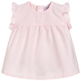 Lief jurkje met bijpassend luierbroekje van Babidu in het roze.