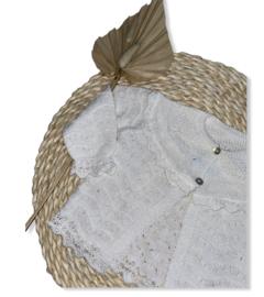 Prachtig fijn gebreid vestje van Mac Ilusion in  het Blis Blanco.