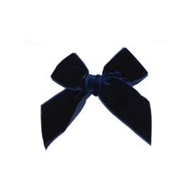 Prachtige velvet haarstrikken van Condor in de kleur Donkerblauw.
