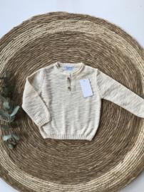 Prachtige zandkleurige fijn gebreide trui van Mac Ilusion .