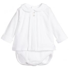 Prachtige blouse romper van Babidu in het wit.