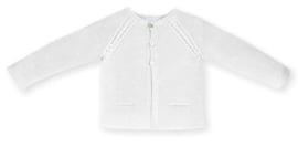 Mac Ilusion fijn gebreid vestje in het wit