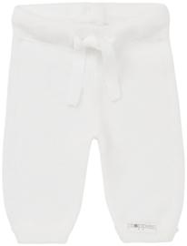 Gebreid broekje in het off-white van Noppies.