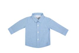Prachtige katoenen blouse van Dr kid in het Lichtblauw.