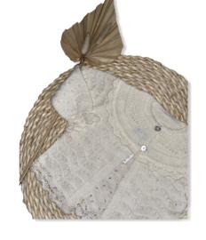 Prachtig fijn gebreid vestje van Mac Ilusion in  het Blis Crudo