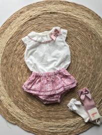 Vrolijke bloomer met bijpassend topje van Valentina bebes.