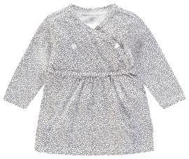 Heerlijk zacht jurkje van Noppies wit met zwarte stippen.