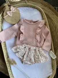 Prachtig 2-delig setje van Valentina bebes in het oudroze.