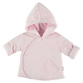 Heerlijk zacht gewatteerd jasje omkeerbaar in het roze