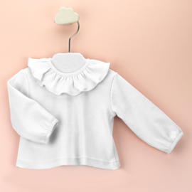 Babidu shirtje met een mooie kraag in het wit.