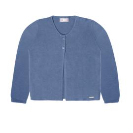 Prachtig gebreid vestje van condor in de kleur oudblauw.