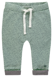 Fijn Noppies broekje in het mint met oudgroene dots.