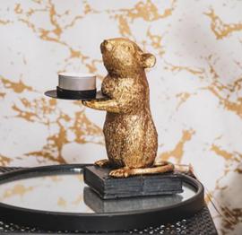 Kandelaar Muis goud