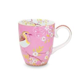 Pip Studio Floral mok groot early bird roze