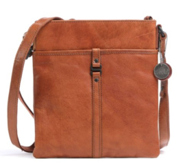 Crossbody platte tas brandy