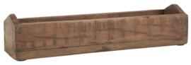 Smalle houten bak, uniek