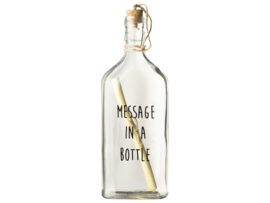 """Fles """"Message in a bottle"""""""