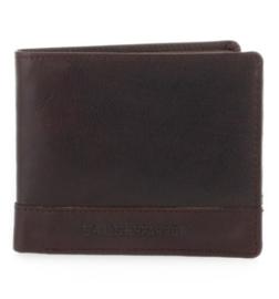 Portemonnee billfold pasjes bruin