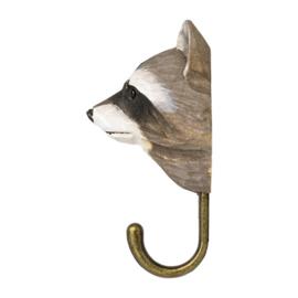 Houten haak wasbeer