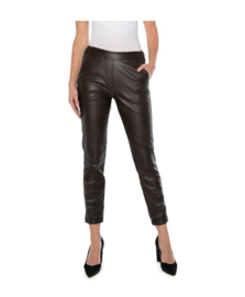 Nukus broek Sadie fake leather bruin
