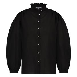 Nukus blouse Fleur zwart