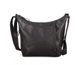 Stoere crossover tas zwart
