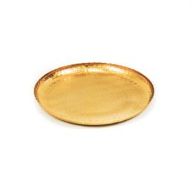 Dienblad rond goud