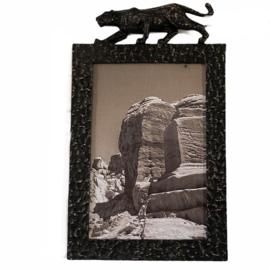 Fotolijstje luipaard zwart