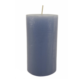Stompkaars rustiek blauw 11cm
