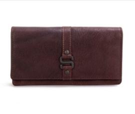 Dames portefeuille gesp in bruin