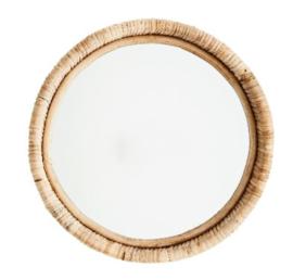 Ronde spiegel bamboe