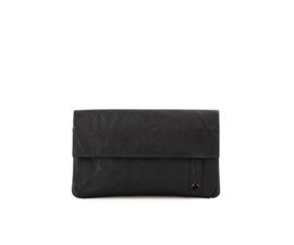 Portemonnee met flap zwart