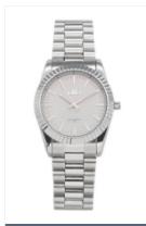 IKKI horloge Bronx zilver