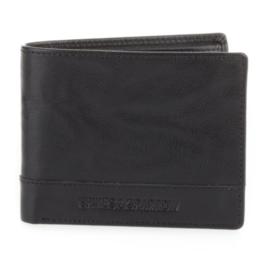 Portemonnee flap billfold zwart