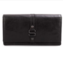 Dames portefeuille gesp in zwart