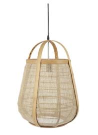 Hanglamp hout jute