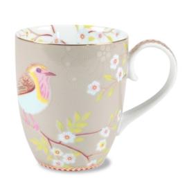 Pip Studio Floral mok groot early bird khaki