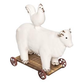 Koe op wielen
