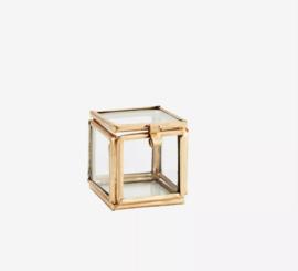 Vitrinedoosje goud mini