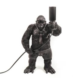 Tafellamp staande gorilla zwart