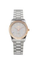 IKKI horloge  Bronx zilver rose