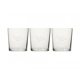 Glas met vogeltje