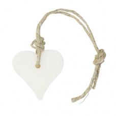 Hartzeepje aan touw, wit millefleurs