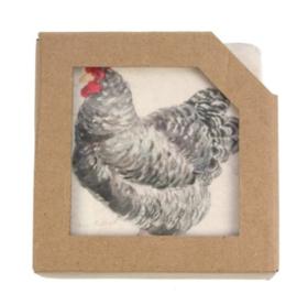 Onderzetters kip-haan