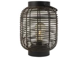 Rotan LED lantaarn zwart