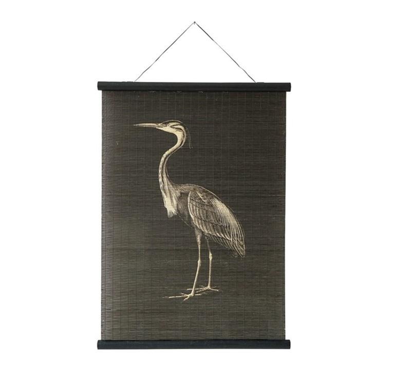 Bamboe poster kraanvogel