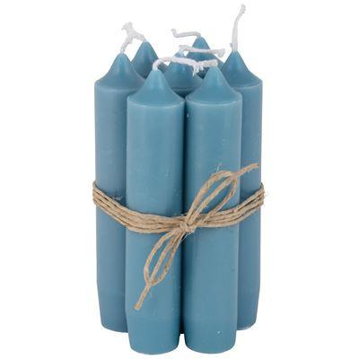 Korte kaarsjes, turquoise
