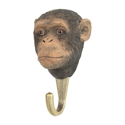Houten haak chimpansee