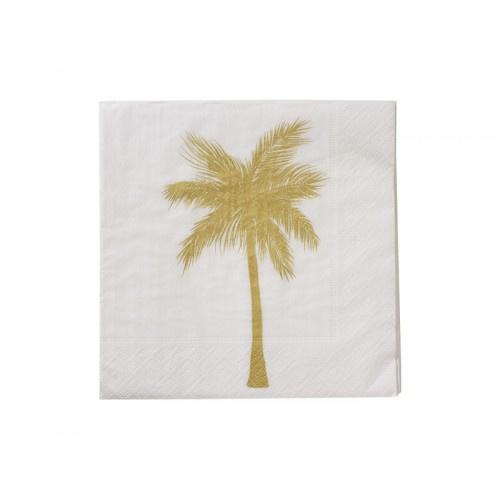 Servetten palmboom goud
